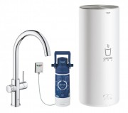Смеситель для кухни GROHE Red Duo New с функцией кипячения воды (бойлер L-size в комплекте), хром (30079001)